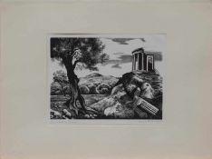 Professor Karl Rössing (Gmunden 1897 - 1987 Wels, österreichischer Grafiker u. Illustrator, Std. a.