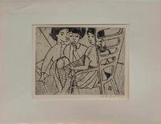 Ruth Buchholz (Hamburg 1911 - 2002 ebenda, deutsche Malerin u. Grafikerin, Std. a.d. Hamburger