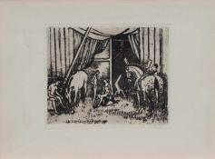 Hermann Teuber (Dresden 1894 - 1985 München, deutscher Maler u. Grafiker, Std. a.d. Dresdener