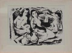 Hanns Weidner (Augsburg 1906 - 1981 Augsburg, deutscher Maler u. Grafiker, Std. a.d. Augsburger