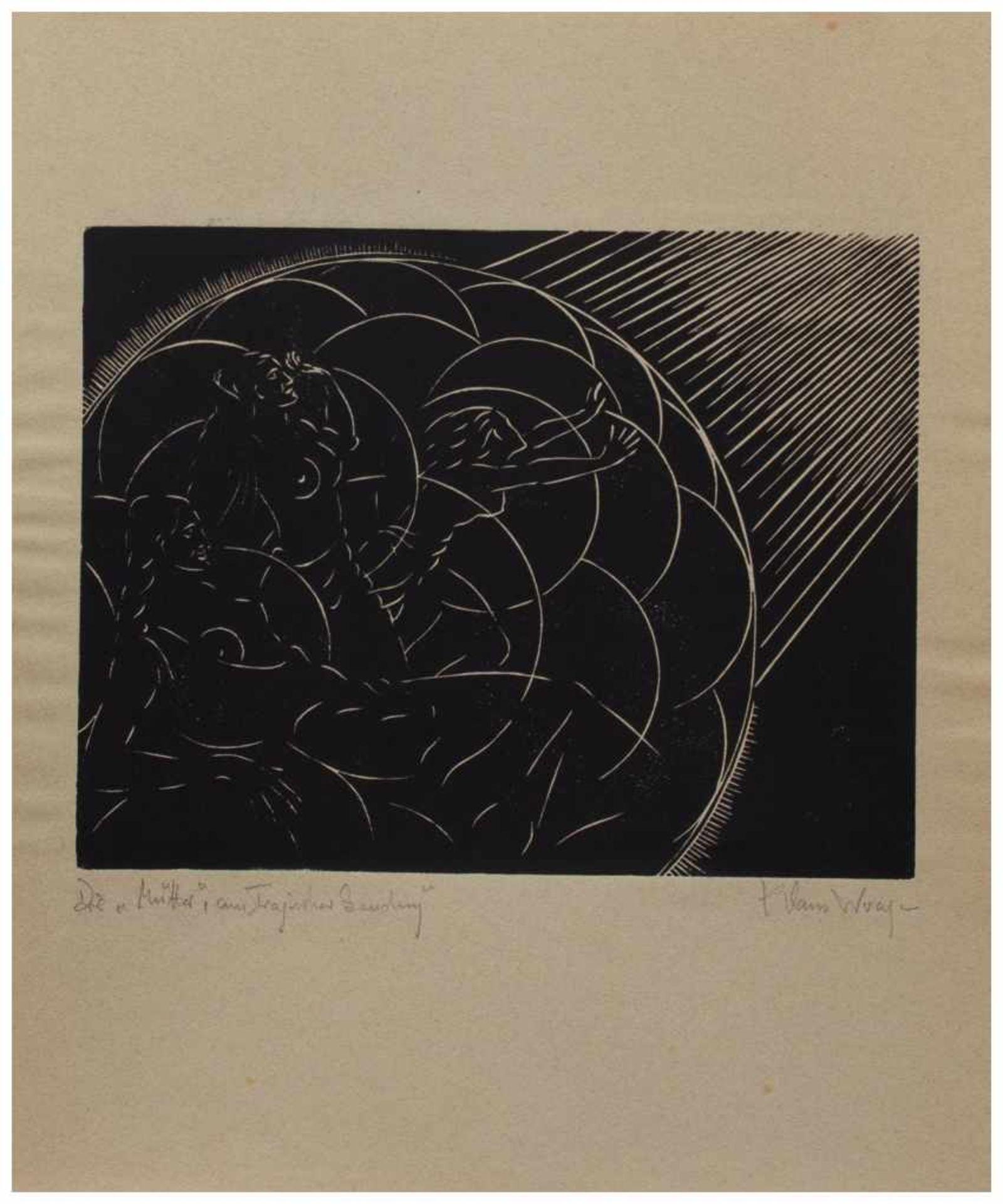 Los 12 - Klaus Wrage (Malente-Gremsmühlen 1891 - 1984 Eutin-Fissau, deutscher Maler u. Grafiker, entstammt