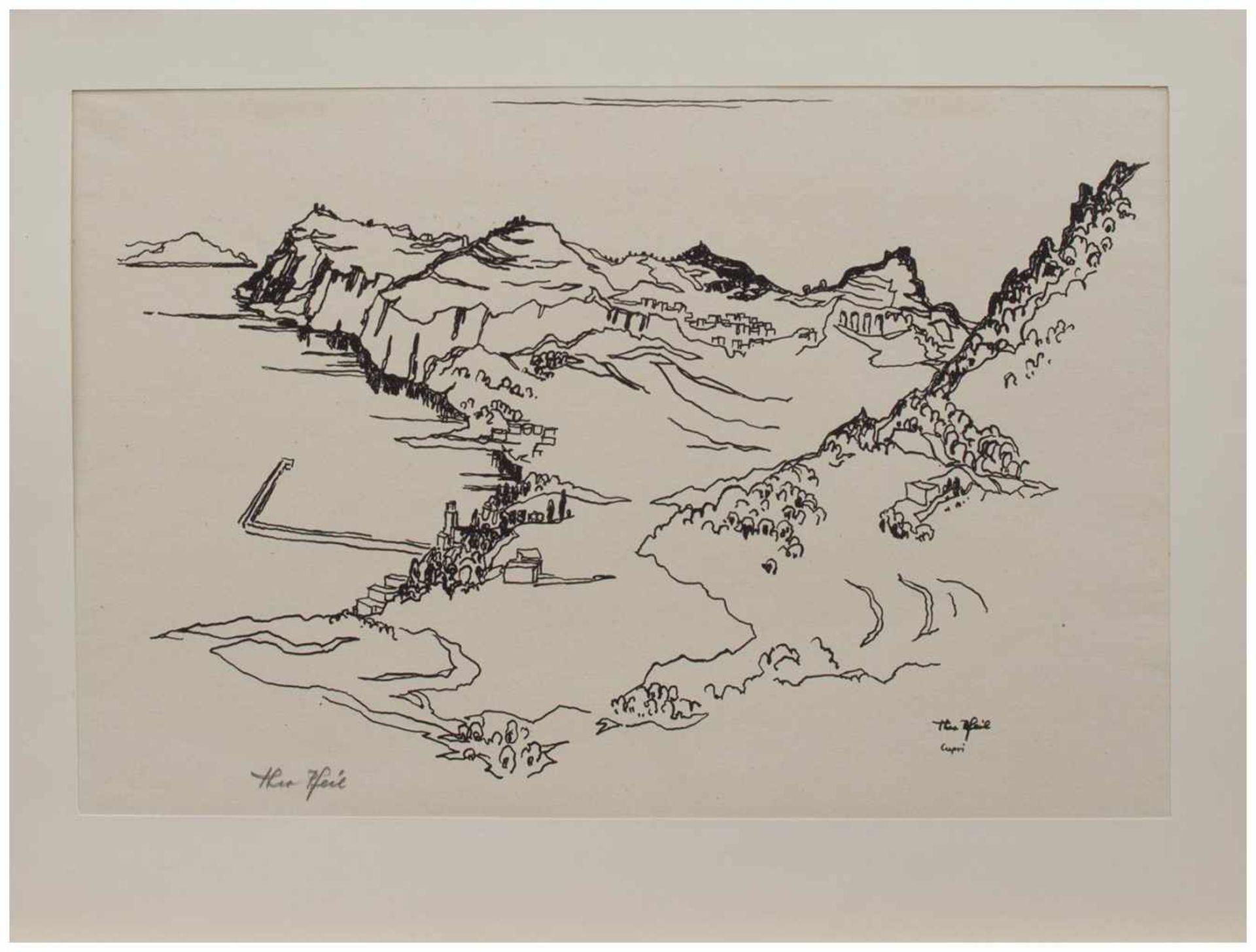 Los 25 - Theo Pfeil (Düren/ Rheinland 1903 - ?, deutscher Maler u. Grafiker, zahlreiche Reisen, lebte in