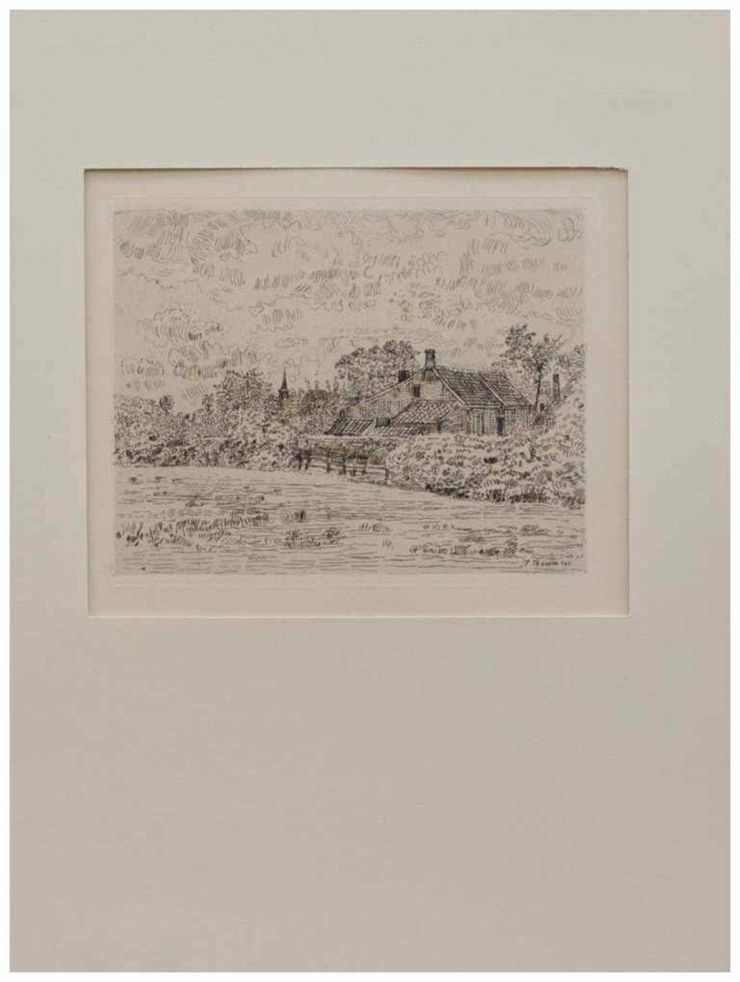 Los 18 - Paul Baum (Meissen 1859 - 1932 San Gimignano, deutscher Landschaftsmaler u. Grafiker, Std. a.d.
