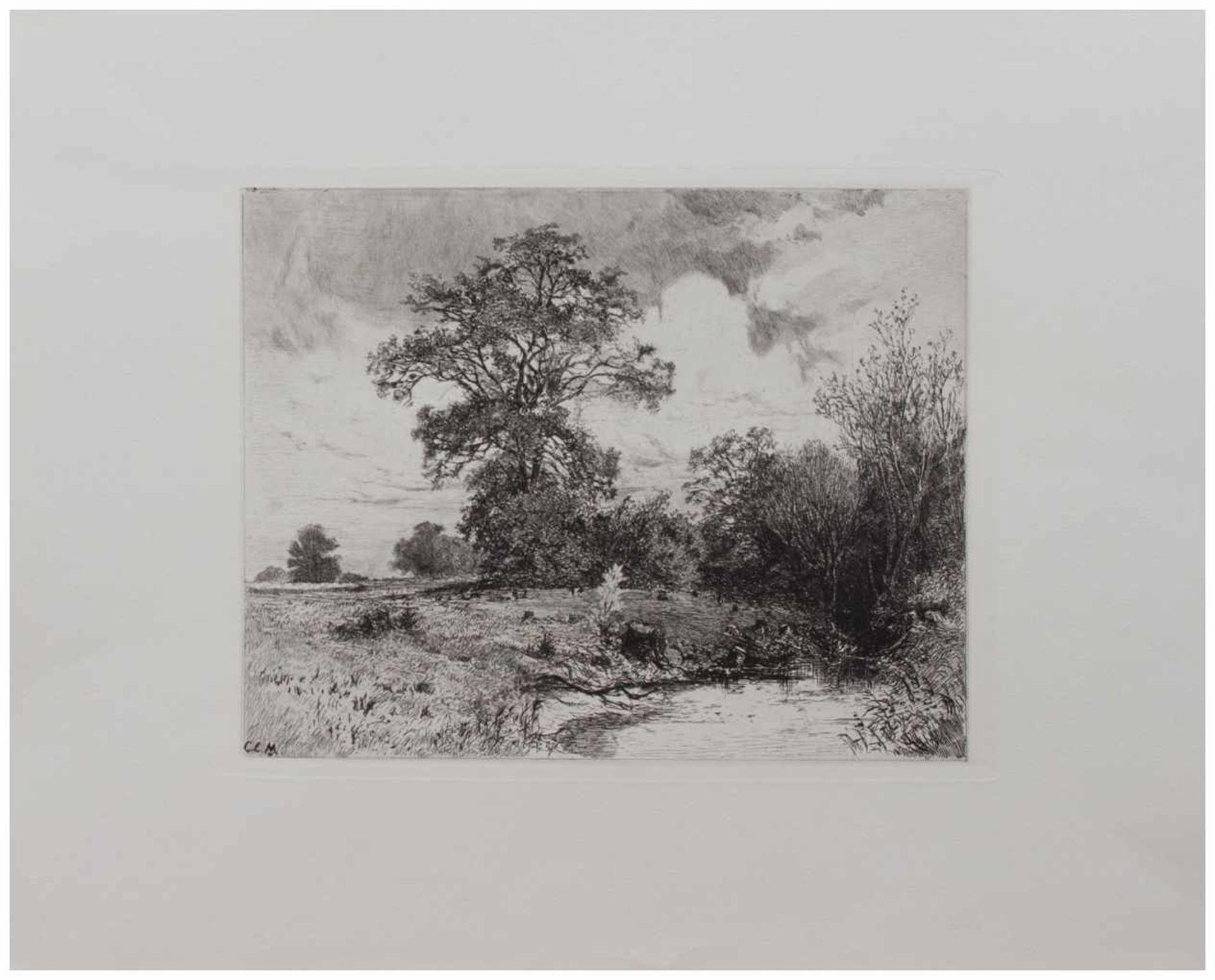 Los 24 - Carl Ernst Morgenstern (München 1847 - 1928 Wolfshau, deutscher Landschaftsmaler u. Radierer,