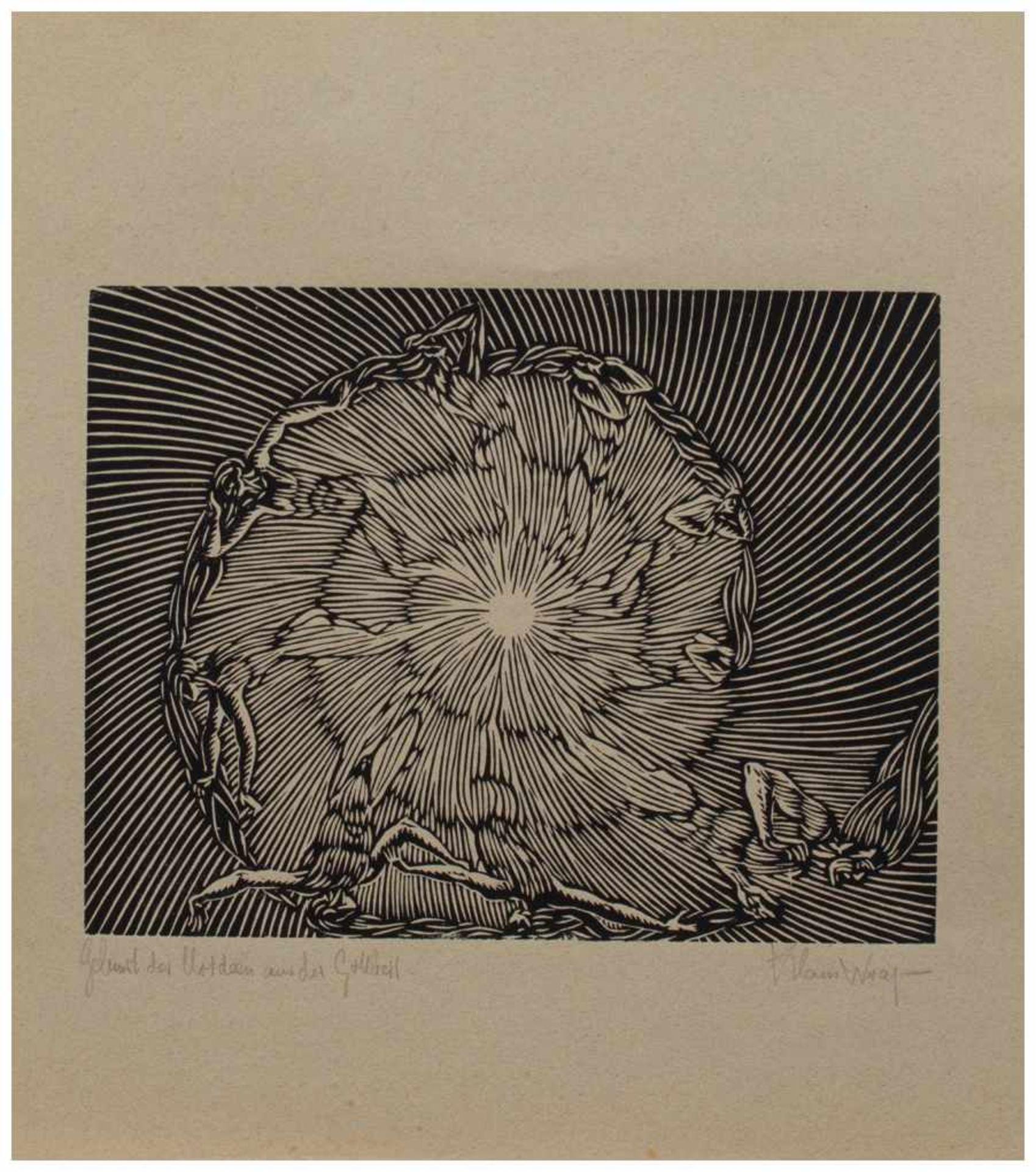 Los 13 - Klaus Wrage (Malente-Gremsmühlen 1891 - 1984 Eutin-Fissau, deutscher Maler u. Grafiker, entstammt