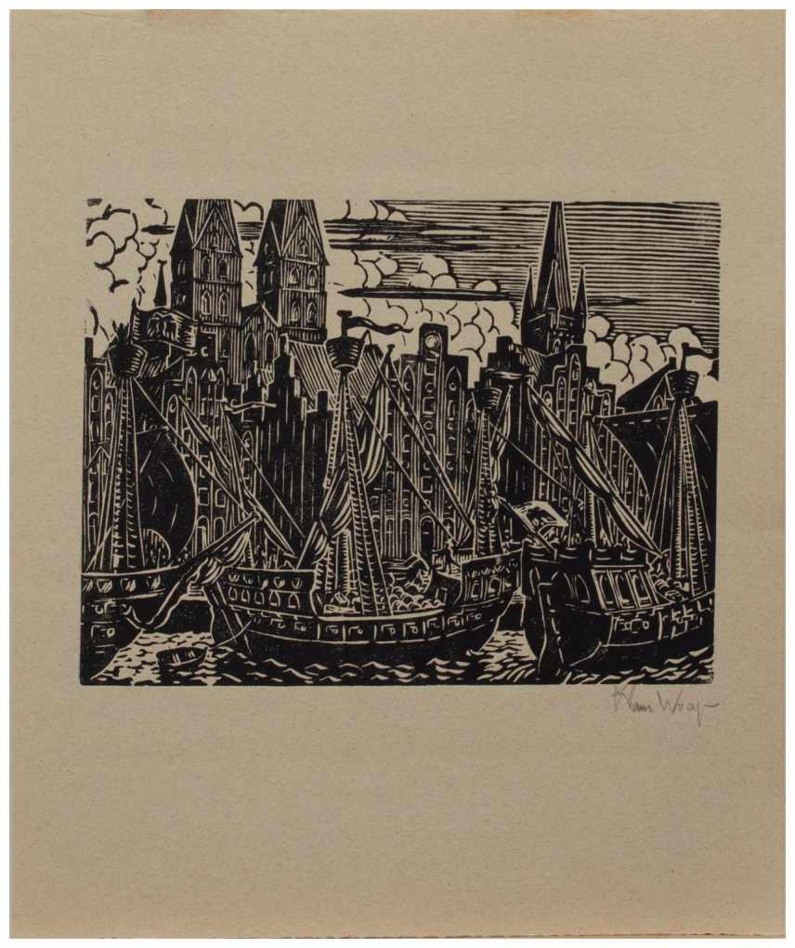 Los 11 - Klaus Wrage (Malente-Gremsmühlen 1891 - 1984 Eutin-Fissau, deutscher Maler u. Grafiker, entstammt