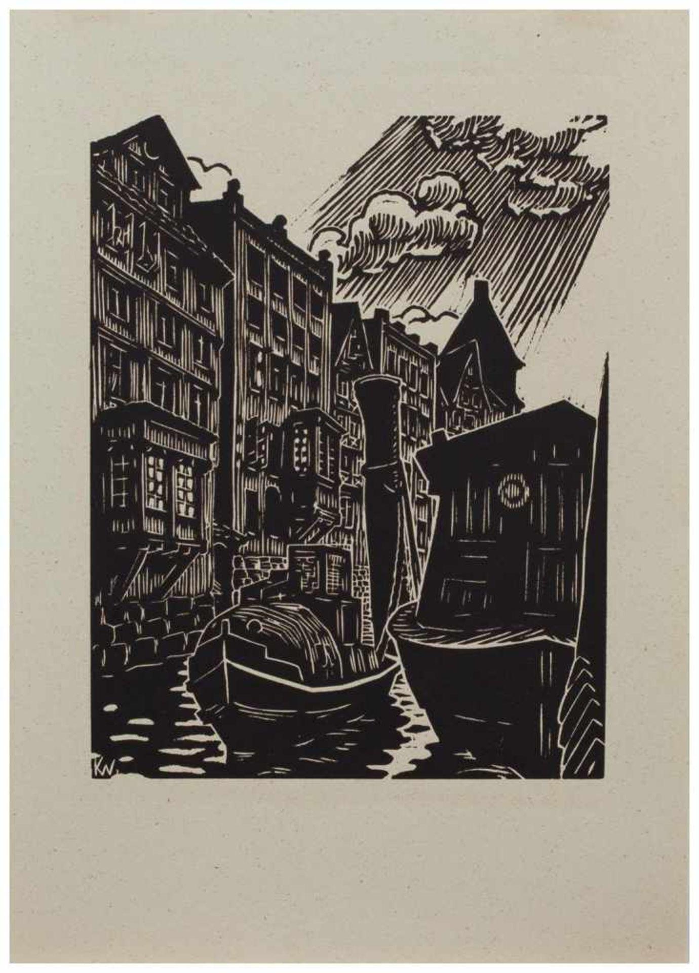 Los 5 - Klaus Wrage (Malente-Gremsmühlen 1891 - 1984 Eutin-Fissau, deutscher Maler u. Grafiker, entstammt