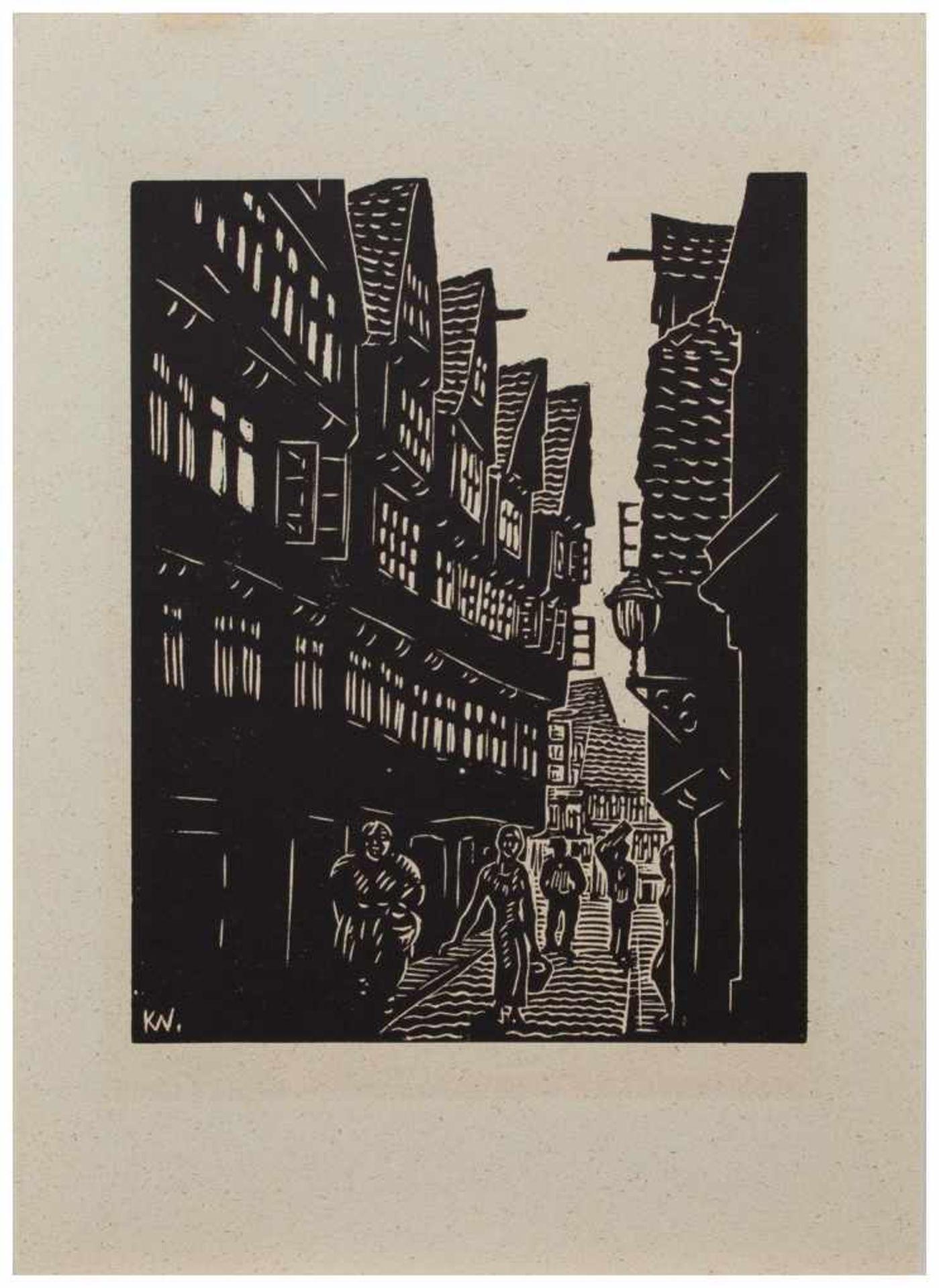 Los 4 - Klaus Wrage (Malente-Gremsmühlen 1891 - 1984 Eutin-Fissau, deutscher Maler u. Grafiker, entstammt
