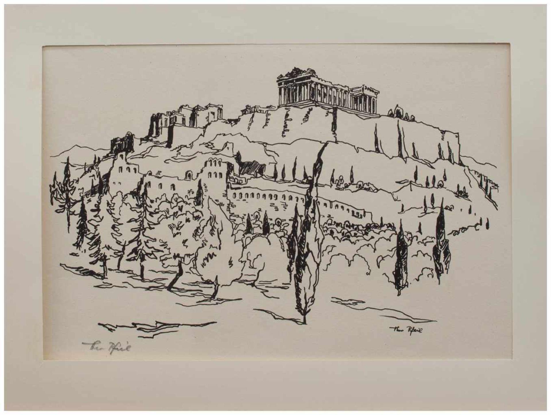 Los 26 - Theo Pfeil (Düren/ Rheinland 1903 - ?, deutscher Maler u. Grafiker, zahlreiche Reisen, lebte in
