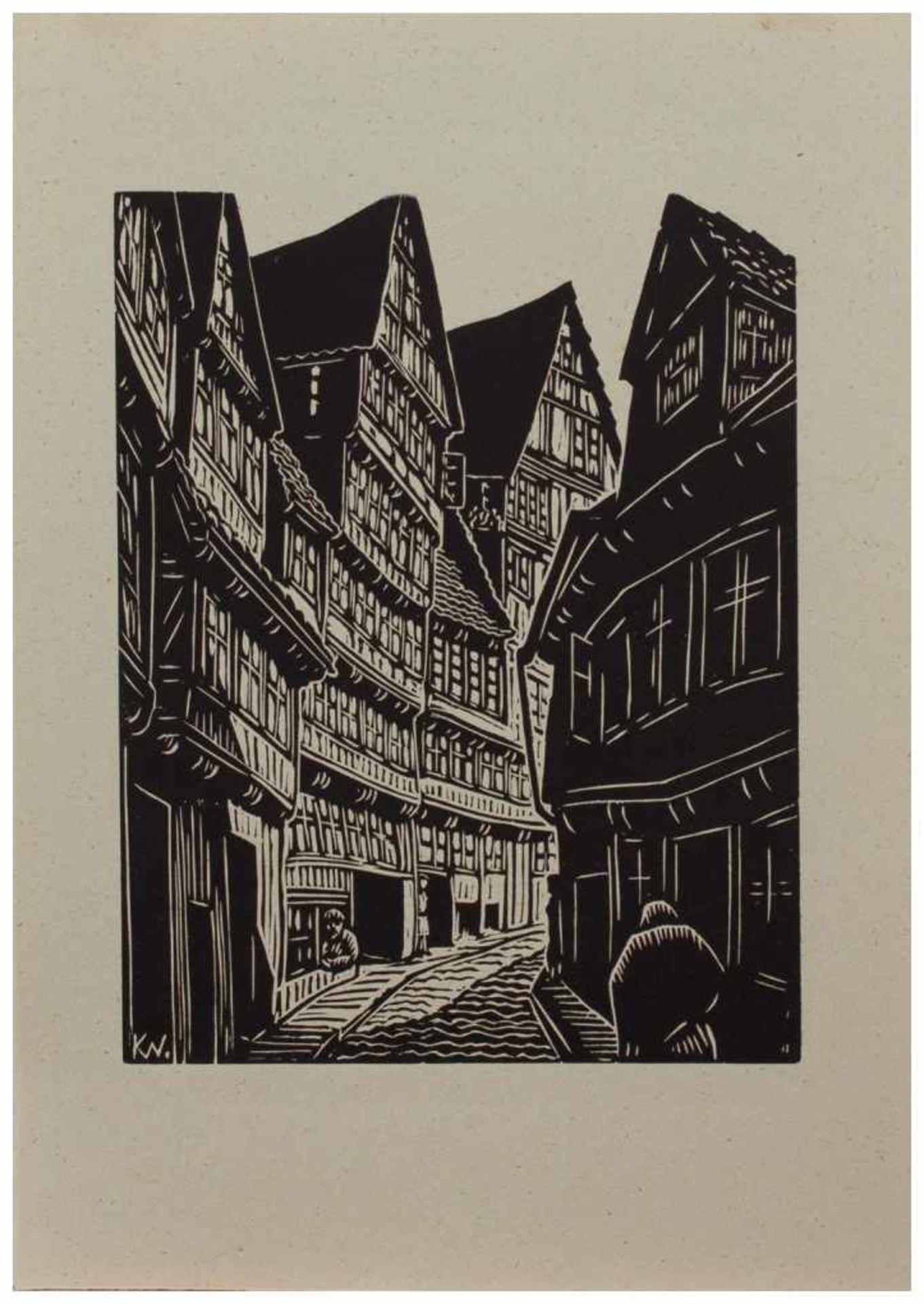 Los 7 - Klaus Wrage (Malente-Gremsmühlen 1891 - 1984 Eutin-Fissau, deutscher Maler u. Grafiker, entstammt
