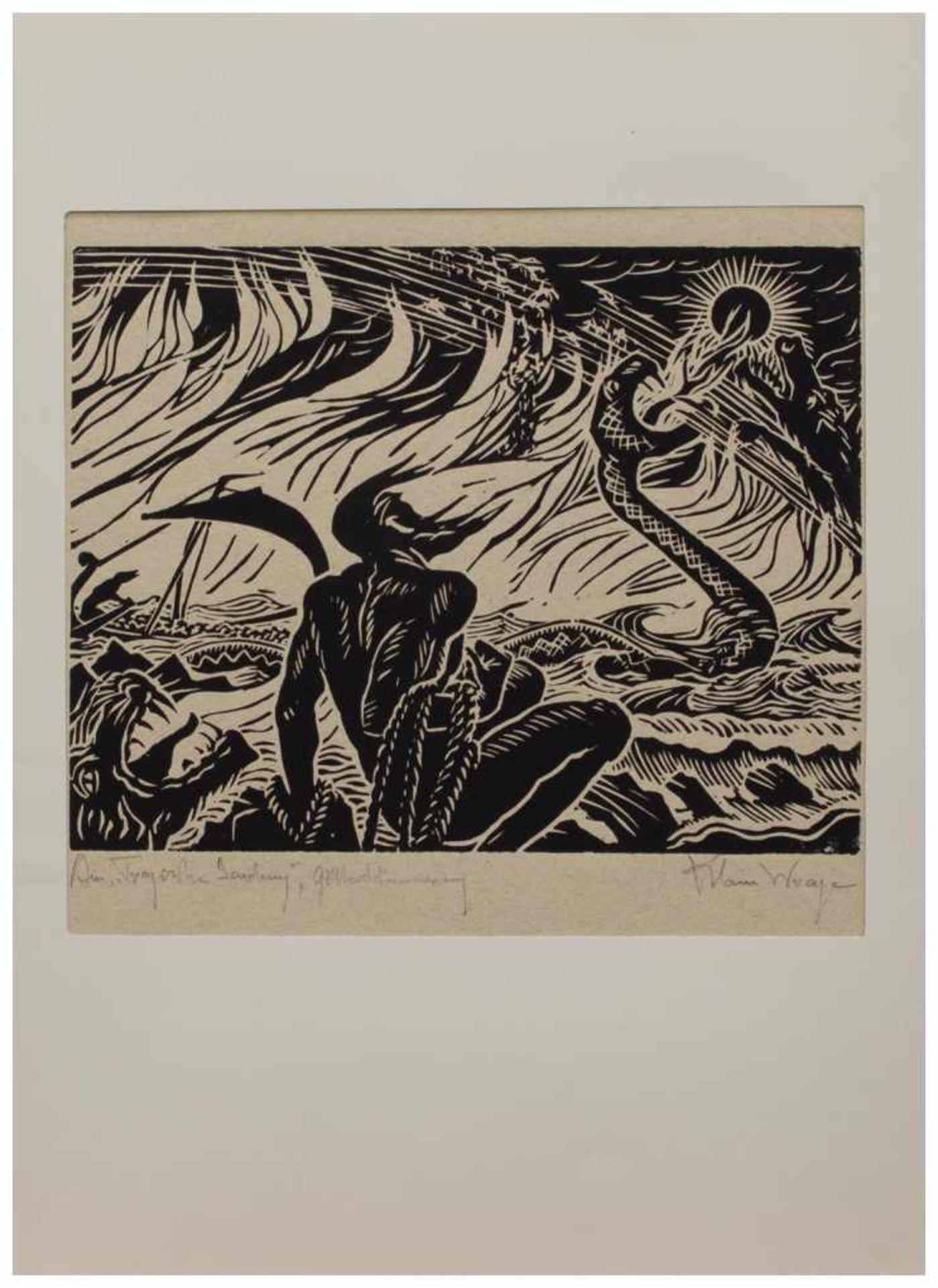 Los 14 - Klaus Wrage (Malente-Gremsmühlen 1891 - 1984 Eutin-Fissau, deutscher Maler u. Grafiker, entstammt