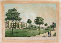 """Peter Suhr (1788 - 1857, deutscher Lithograf, Zeichner u. Radierer) """"Das Marien Magdalenen Kloster"""
