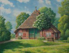 Richard Rothgiesser (Braunschweig 1873 - 1950 Hamburg, Hamburger Maler des 19./ 20. Jh.) Bauernkaten
