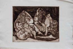 Margot Veillon (Cairo 1907 - 2003 ebenda, ägyptische Künstlerin Schweizer Herkunft) Beduinenfrauen