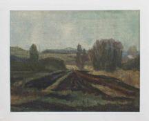 R. Scheel (norddeutscher Landschaftsmaler u. Grafiker) Wiesen im Frühling Öl/ Leinwand, 37 x 47
