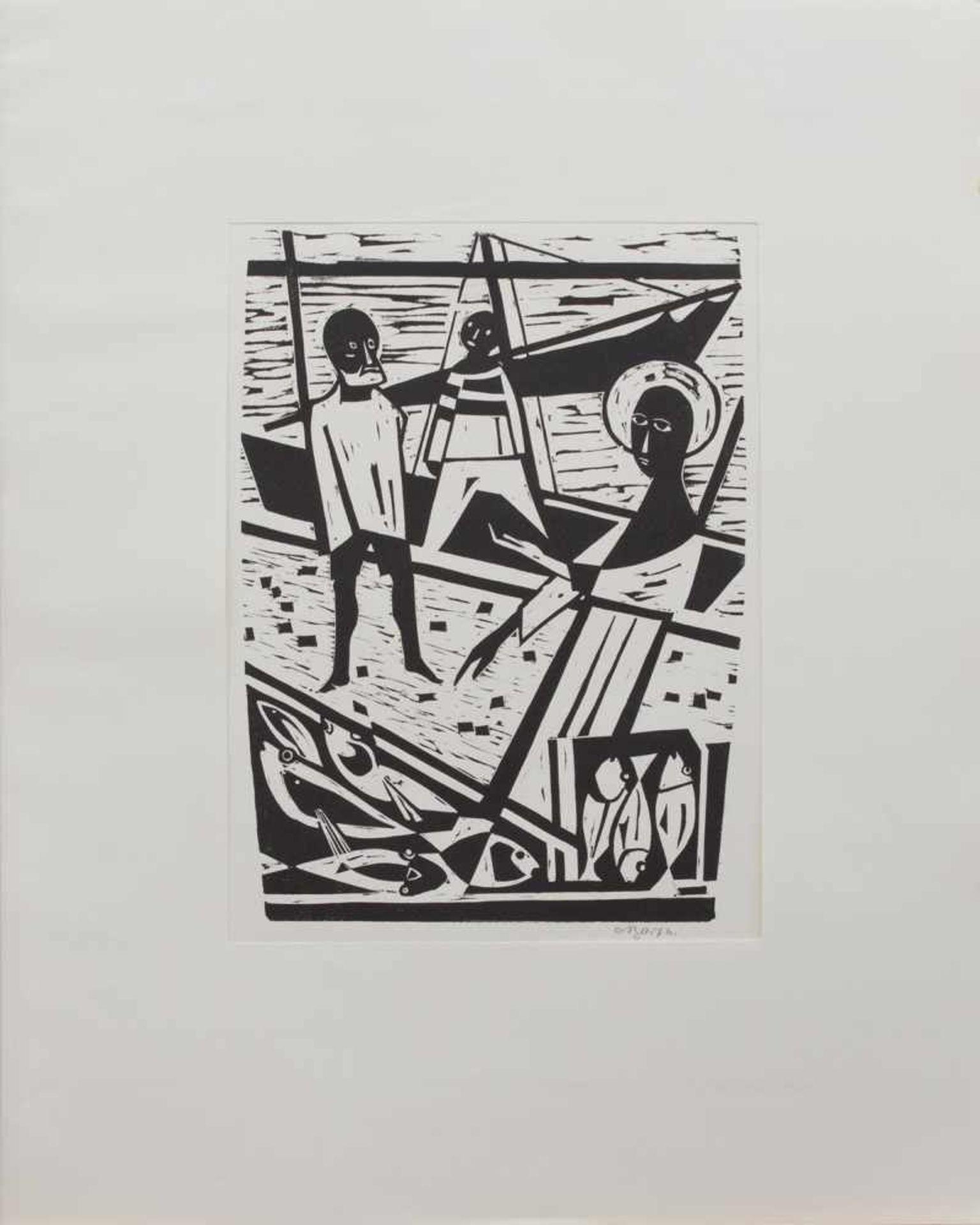 Carl Josef Barth (Haan 1896 - 1976 Düsseldorf, deutscher Maler u. Holzschneider, Std. a.d.