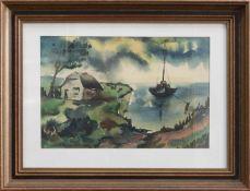 Paul Heinicke (norddeutscher Maler u. Zeichner d. 20. Jh.) Hiddensee Aquarell, 23 x 34 cm,