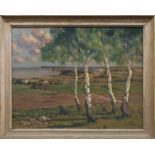 Franz Pflugradt (Peenewerder 1861 - 1946 Zingst, deutscher Landschaftsmaler, Std. a.d. AK Berlin