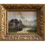 Louis Douzette (Triebsees 1834 - 1924 Barth, deutscher Landschaftsmaler mit Vorliebe für die