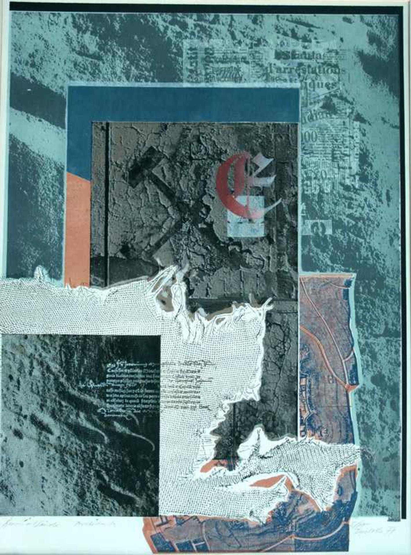 Los 41 - Dieter Tucholke (Berlin 1934 - 2001 Berlin, deutscher Maler, Grafiker u. Collagekünstler, Std. a.