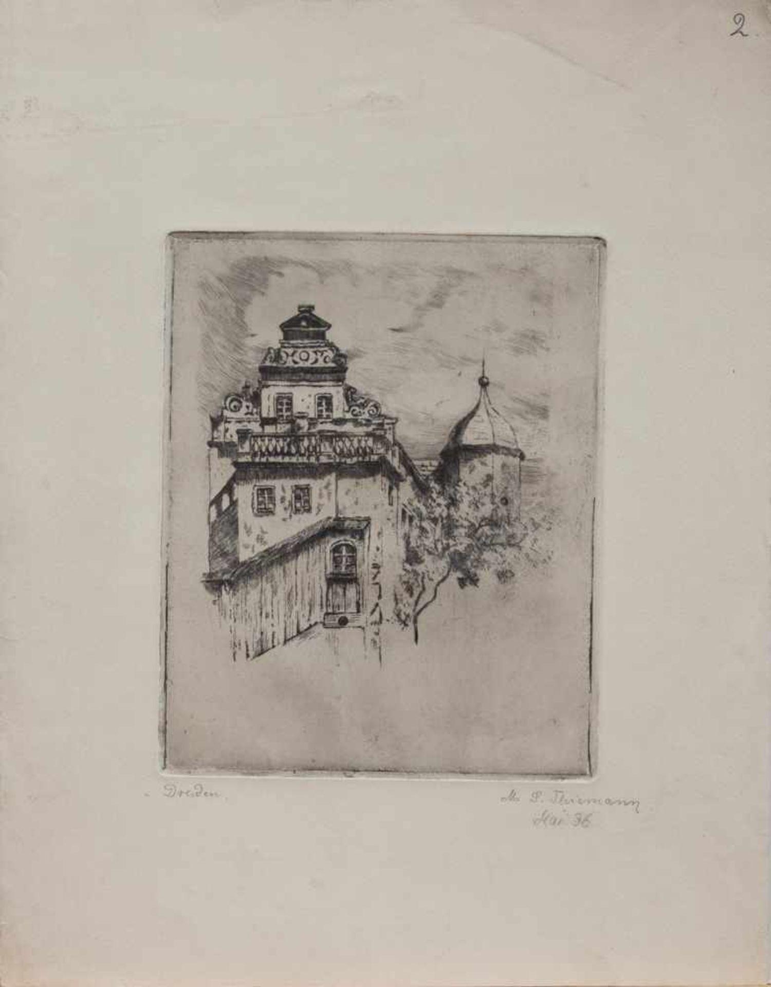 Los 56 - Margarete Johanna Thiemann (Dachau 1909 - 1950 ebenda, deutsche Malerin u. Zeichnerin, Std. a.d.