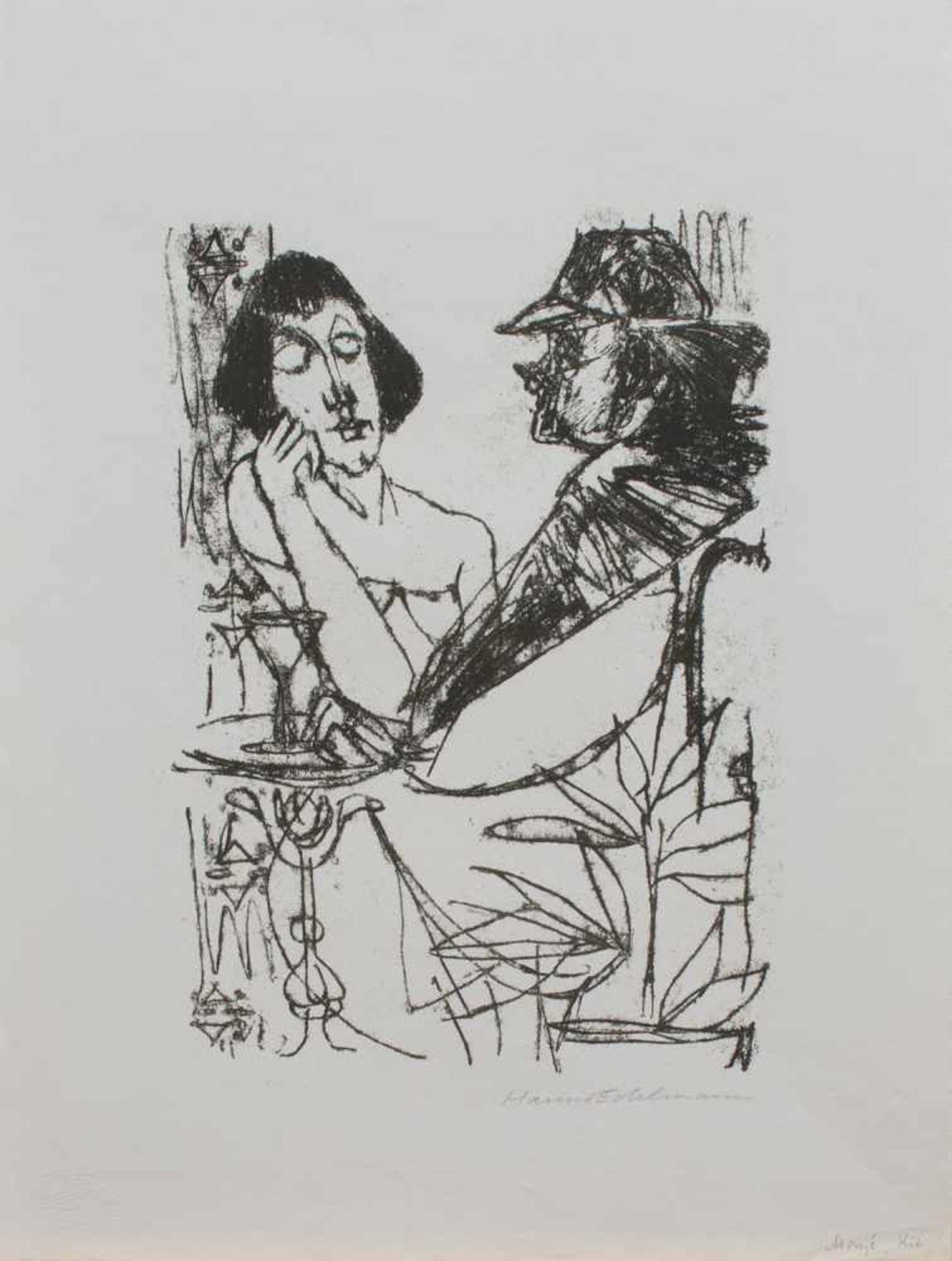 Los 16 - Hanno Edelmann (Hamburg 1923 - 2013 ebenda, deutscher Grafiker, Maler u. Bildhauer,