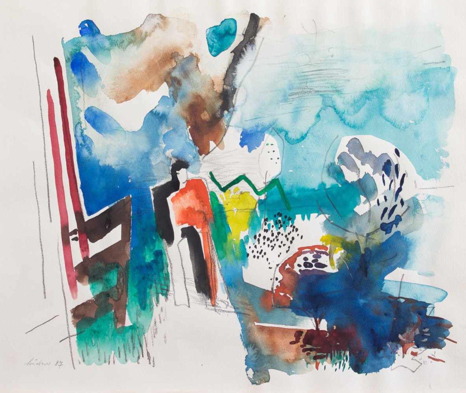 Los 24 - Hermann Lindner (Leipzig 1934 - 2001 Stralsund, deutscher Maler u. Grafiker, Std. a.d. FS f.