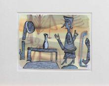 Otto Sander Tischbein (Osmarsleben 1949 - , deutscher Grafiker u. Maler, Std. a. d. HS f. Bildende