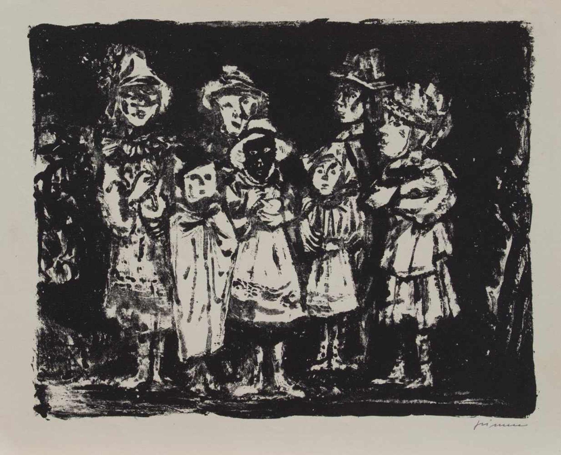 Los 13 - Wilhelm Grimm (Eberstadt 1904 - 1986 Hamburg, deutscher Maler u. Grafiker, Std. a.d. Werkkunstschule