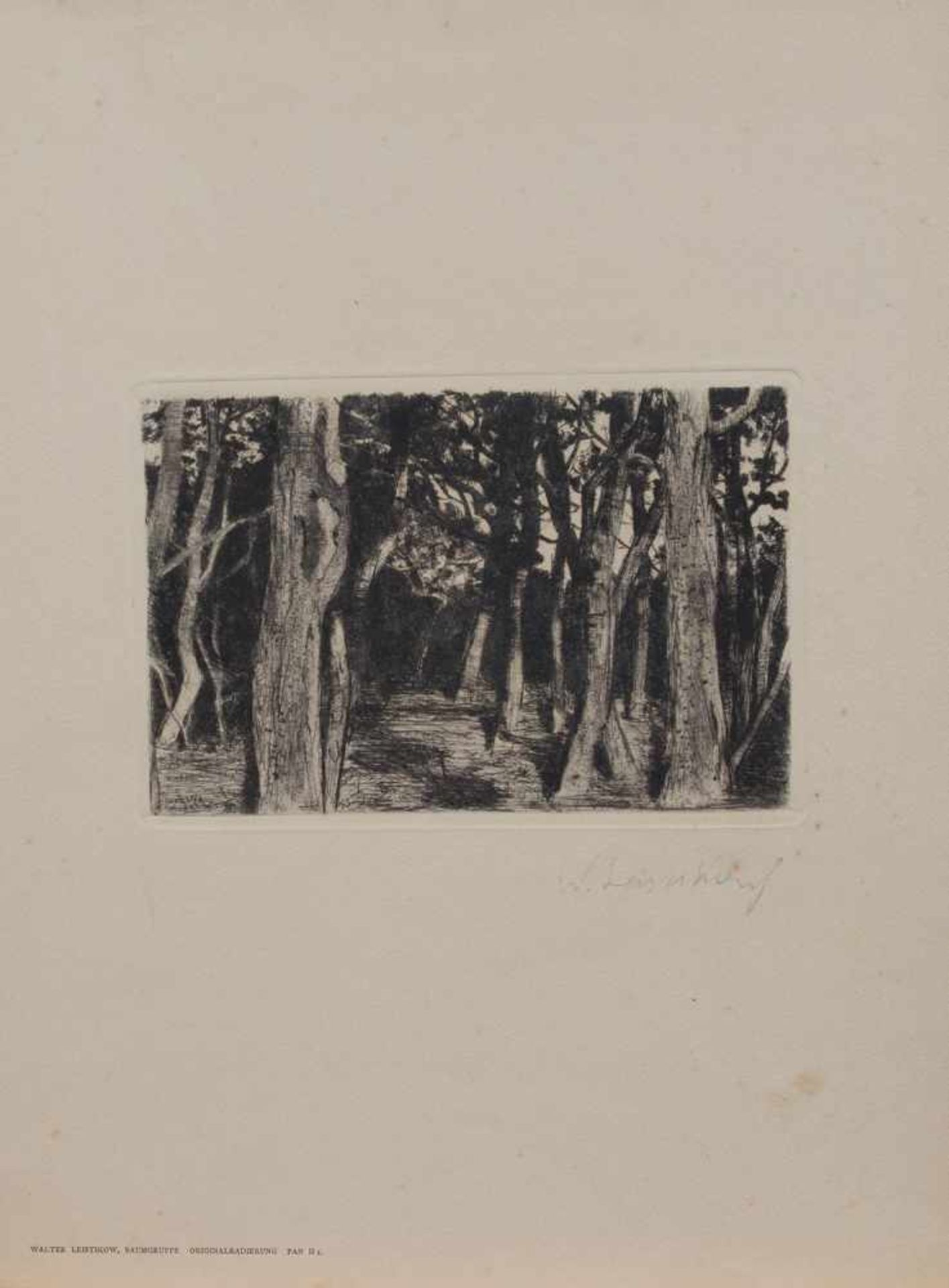 Los 22 - Walter Leistikow (Bromberg 1865 - 1908 Berlin, deutscher Maler u. Graphiker, Std. bei Hermann Eschke