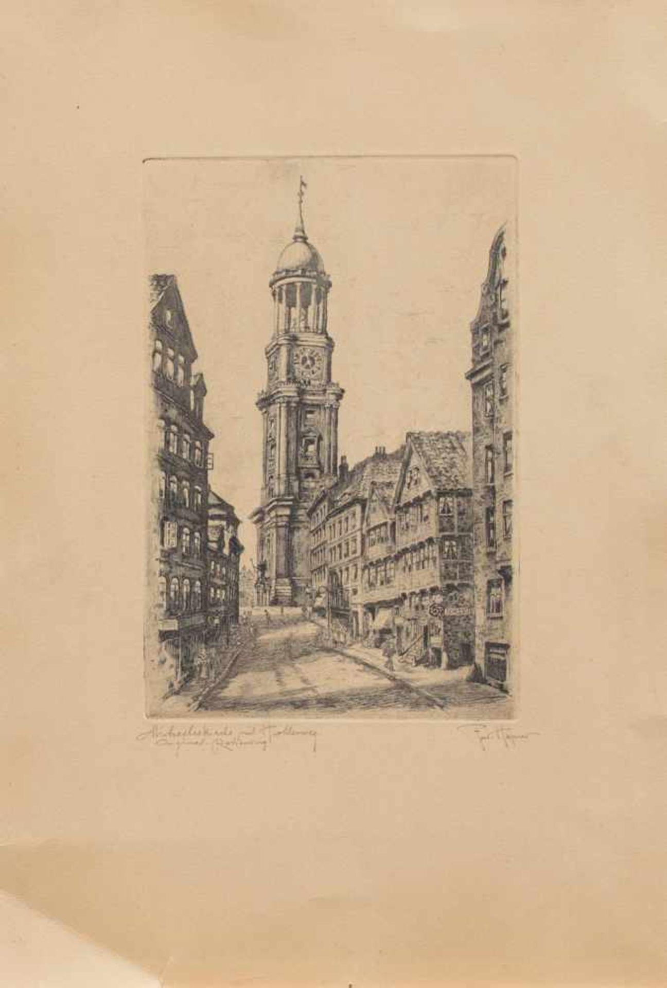 Los 4 - Ferdinand Höpner (Hamburg 1882 - 1967 ebenda, deutscher Radierer u. Zeichner, lebte u. arbeitete