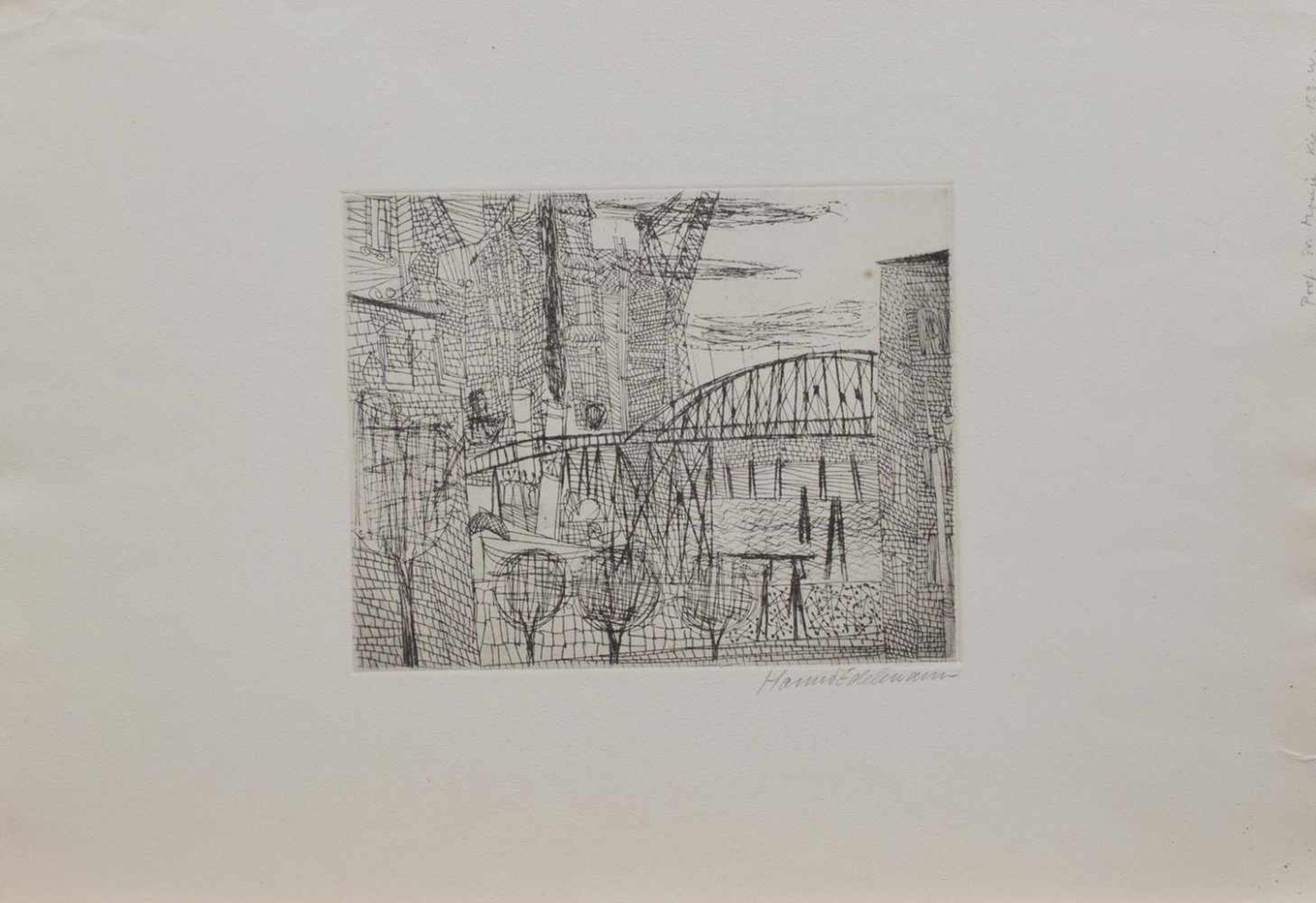 Los 15 - Hanno Edelmann (Hamburg 1923 - 2013 ebenda, deutscher Grafiker, Maler u. Bildhauer,