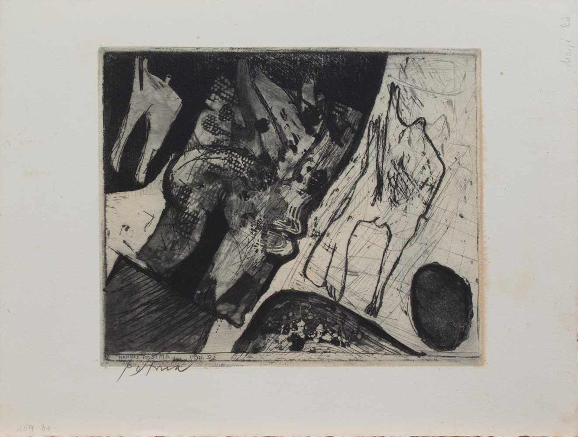 Los 39 - Johannes Gerardus Maria Postma (Haarlem 1933 -, niederländischer Grafiker u. Maler, Std. a.d.