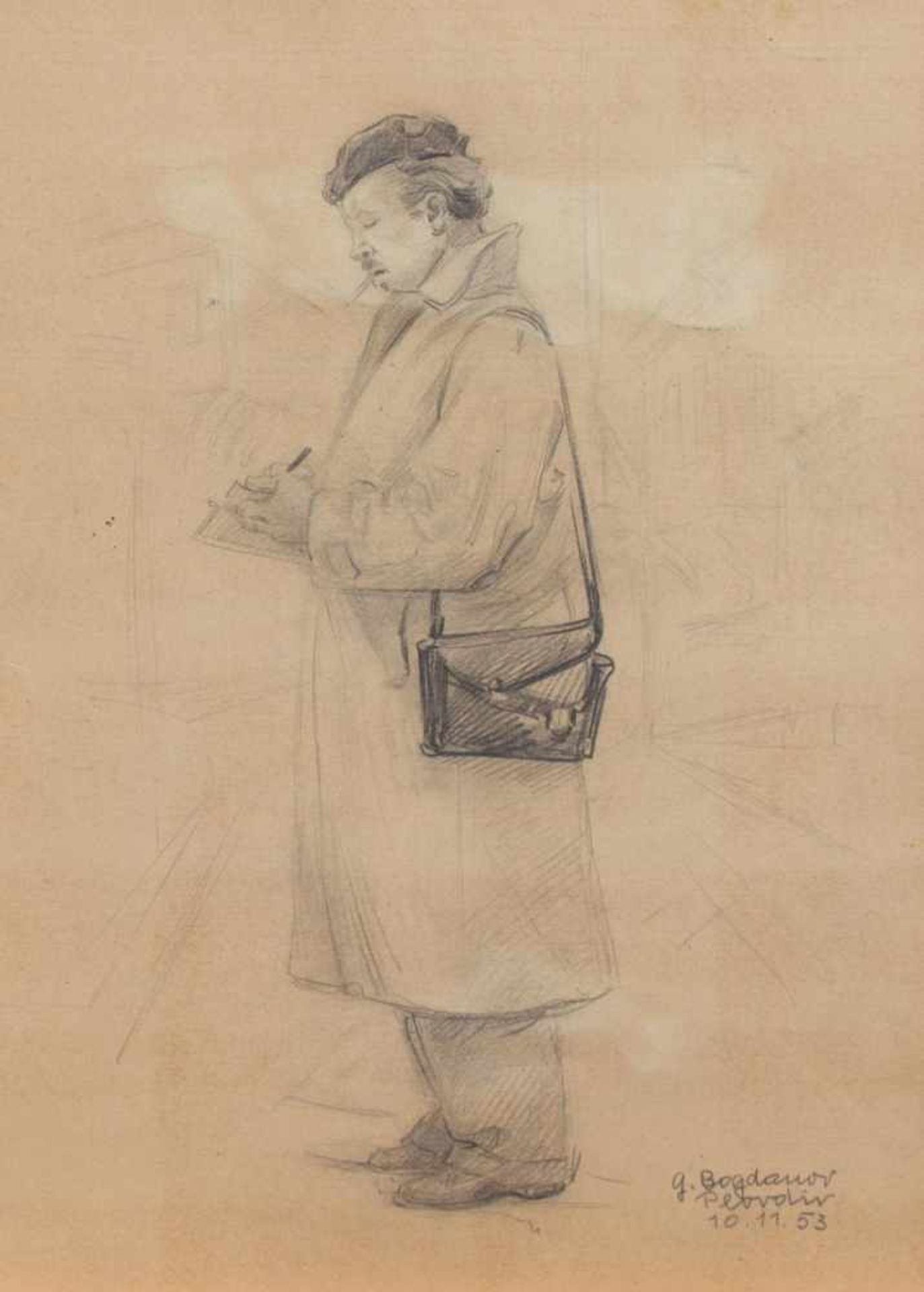 Los 5 - Georgi Bogdanov (bulgarischer Maler u. Zeichner d. 20. Jh., Std. a.d. KA Sofia u. München, Professur