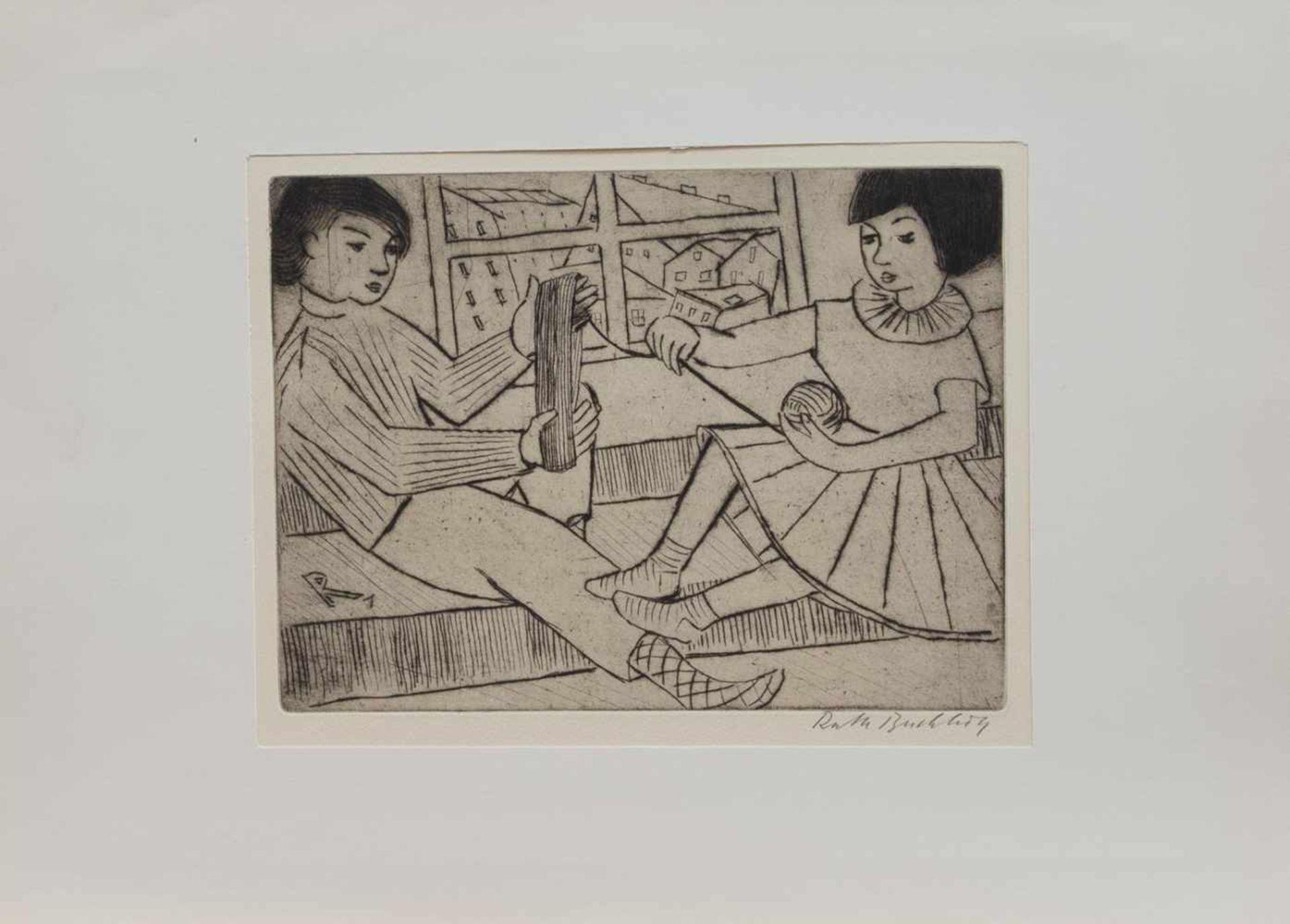 Los 3 - Ruth Buchholz (Hamburg 1911 - 2002 ebenda, deutsche Malerin u. Grafikerin, Std. a.d. Hamburger