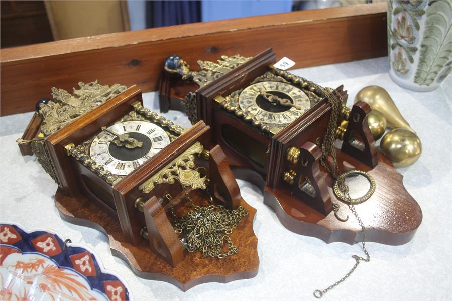 Lot 59 - Two Dutch wall clocks