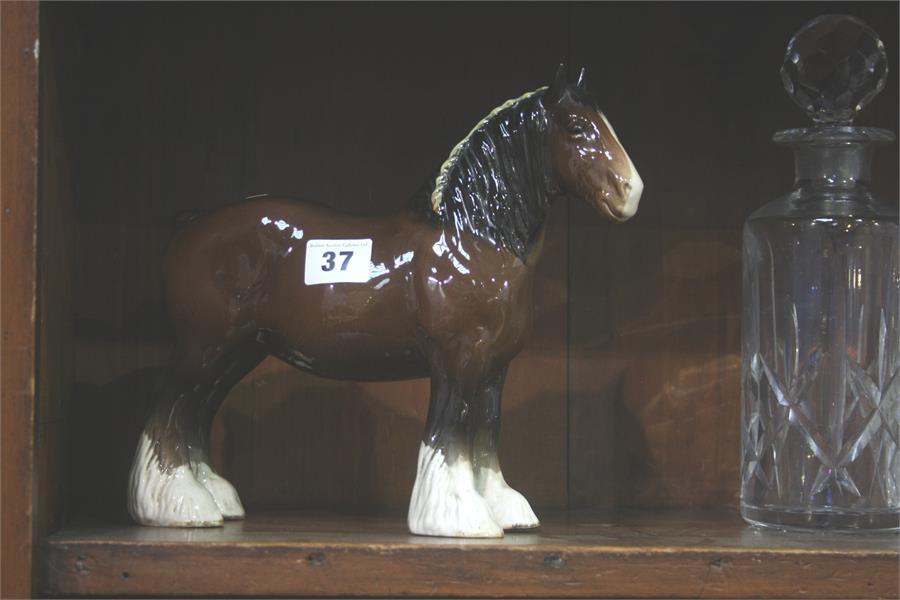 Lot 37 - Beswick Shire horse