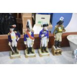 Four Continental military figures
