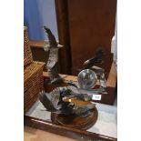 A Franklin Mint Bronze eagle sculpture