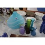 A collection of Studio glass