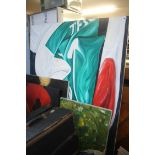 Four large paintings, oil on canvas