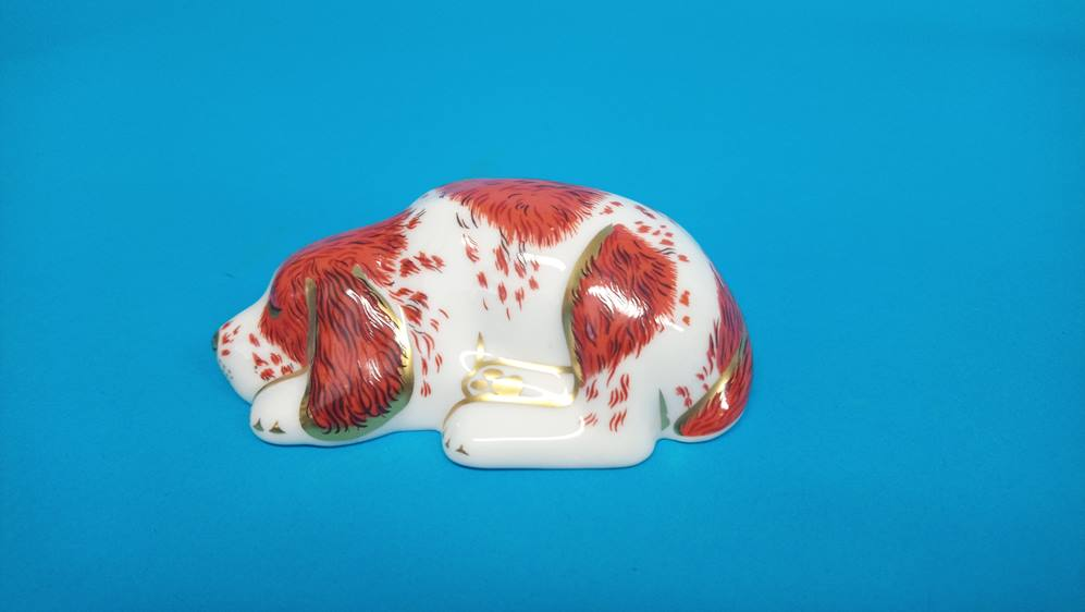 Five Royal Crown Derby paperweights 'Fox', 'Puppy' - Image 4 of 6