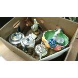 Box of china and metal wares