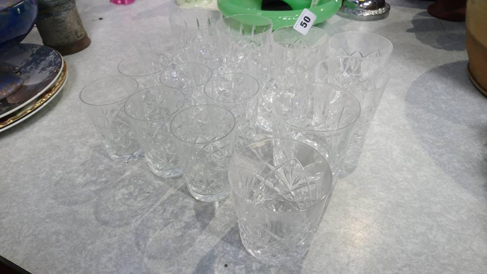 Quantity of cut glass