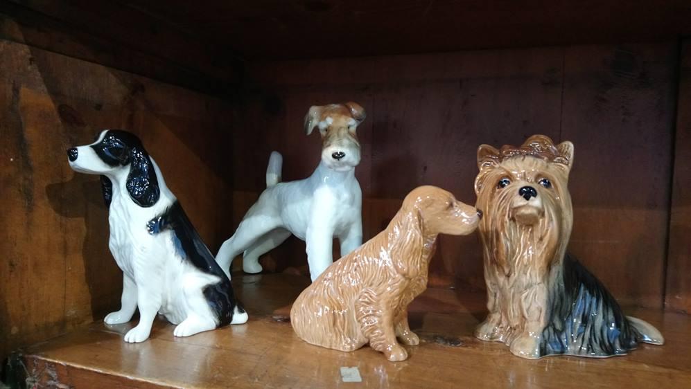 Beswick, USSR, Royal Doulton dogs (4)