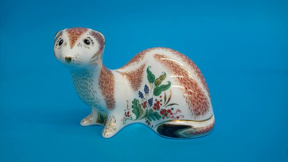Five Royal Crown Derby paperweights 'Fox', 'Puppy' - Image 2 of 6