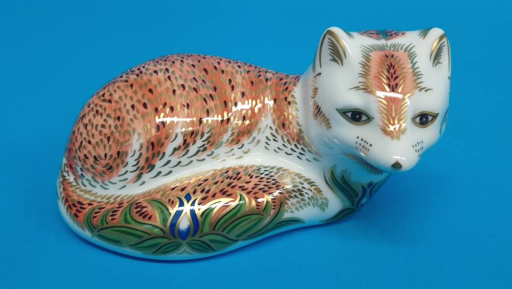 Five Royal Crown Derby paperweights 'Fox', 'Puppy' - Image 6 of 6