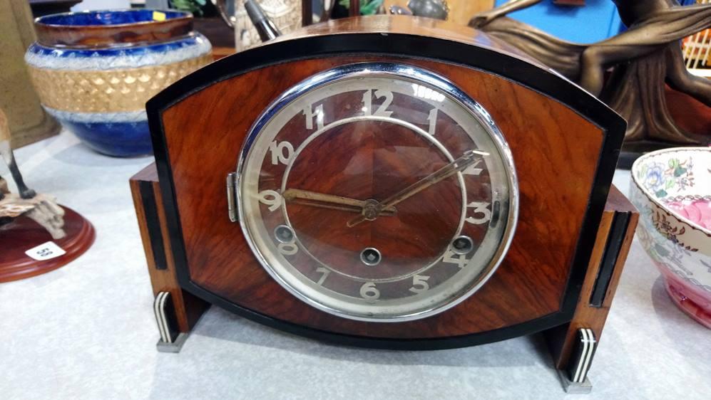 Walnut Deco clock