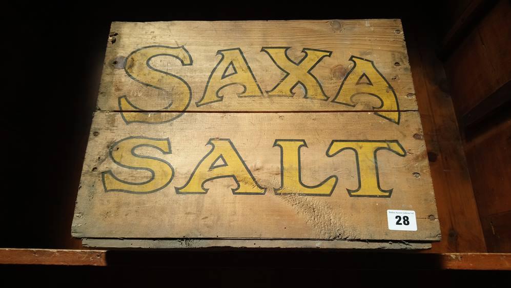 Original 'Saxa' salt crate