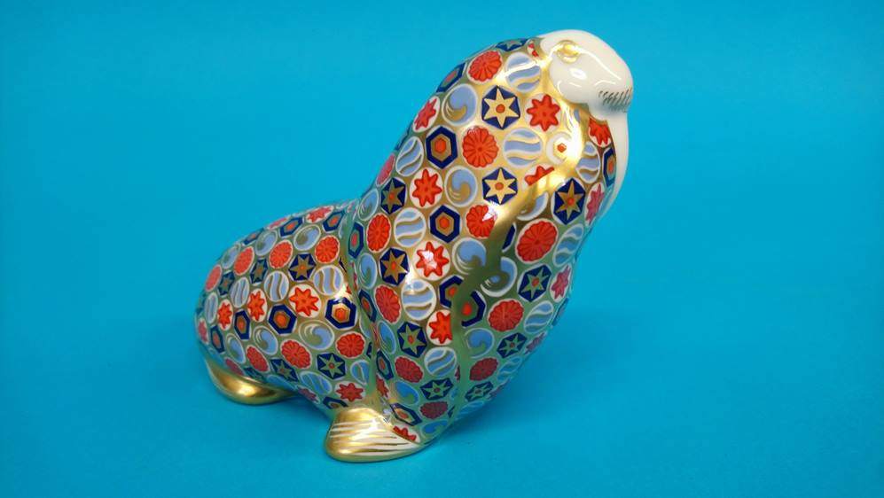 Four Royal Crown Derby paperweights 'Oceanic whale - Image 5 of 7